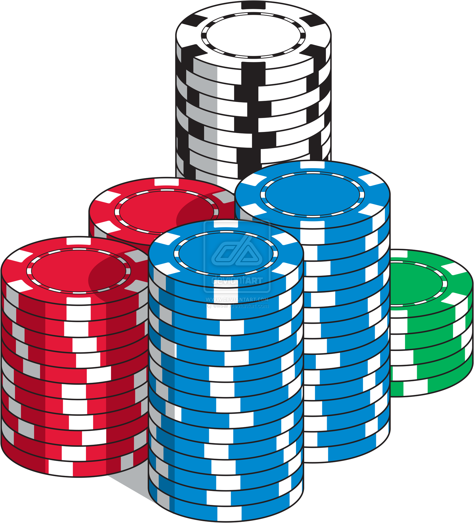 Black and white poker chip stack clipart vector library stock Poker Clipart | Free download best Poker Clipart on ClipArtMag.com vector library stock