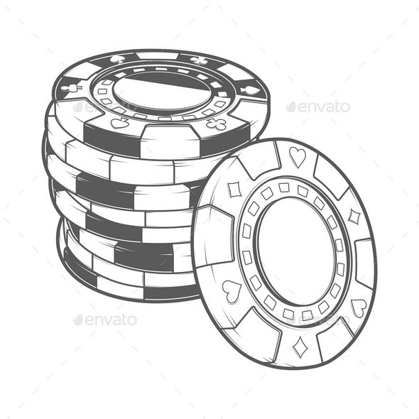 Black and white poker chip stack clipart png free Stack of Gambling Chips | cotte droite | Poker chips, Chip tattoo, Poker png free