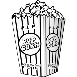Popcorn black and white clipart clipart freeuse Popcorn Clipart Black And White - 46 cliparts clipart freeuse