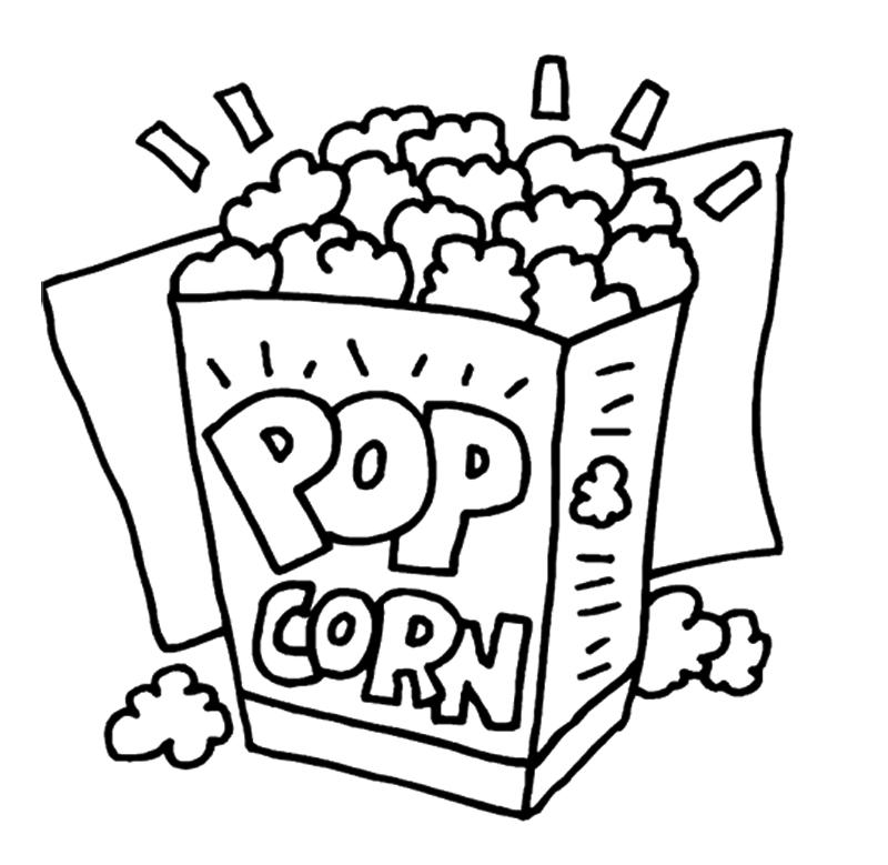 Popcorn black and white clipart clipart freeuse download Free White Popcorn Cliparts, Download Free Clip Art, Free Clip Art ... clipart freeuse download