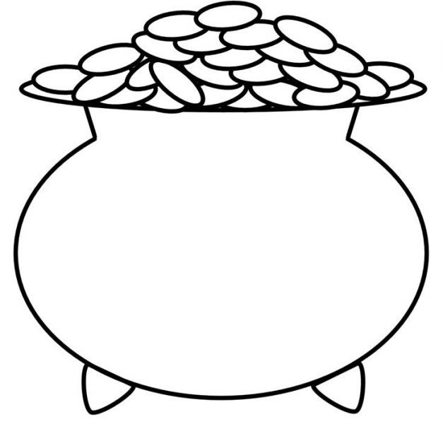 Black and white pot of gold clipart image transparent library Pot of gold clipart black and white 3 » Clipart Portal image transparent library