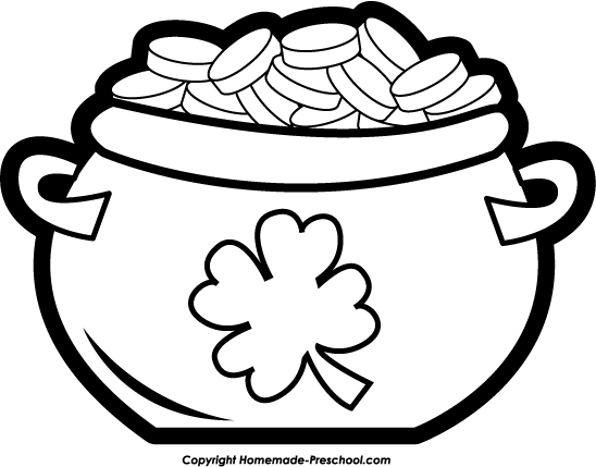 Black and white pot of gold clipart clip transparent download Pot Of Gold Clip Art Many Interesting Cliparts ClipartPost ... clip transparent download