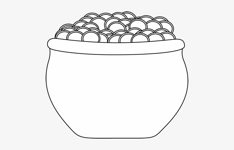 Black and white pot of gold clipart clip art download Black And White Pot Of Gold Clip Art - Pot Of Gold Clipart Black And ... clip art download