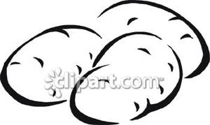 Black and white potato clipart banner royalty free Potato Clip Art Black And White   Clipart Panda - Free Clipart Images banner royalty free