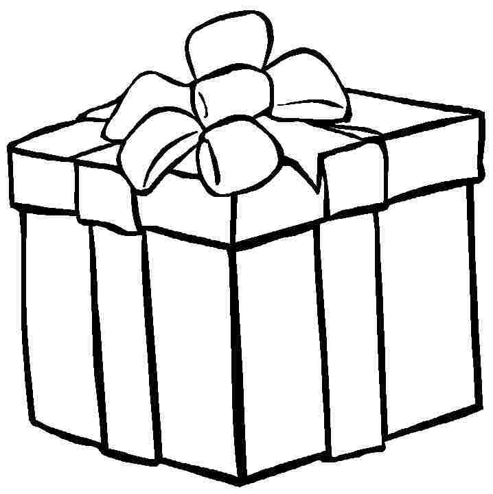 Black and white presnet clipart royalty free Free Christmas Gift Clipart Black And White, Download Free Clip Art ... royalty free