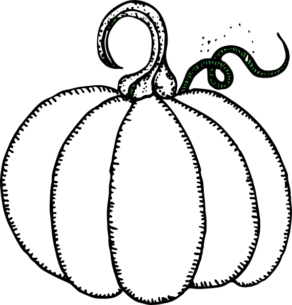Pumpkin clipart black and white outline png transparent download Pumpkin Clip Art at Clker.com - vector clip art online, royalty free ... png transparent download