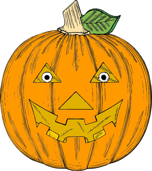 Silly pumpkin faces clipart clipart freeuse stock Pumpkin Face Clip Art at Clker.com - vector clip art online, royalty ... clipart freeuse stock