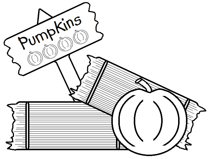 Pumpkin patch black and white clipart svg royalty free library Graphics by Ruth - Pumpkin Patch svg royalty free library
