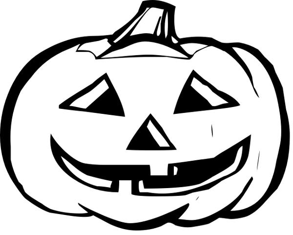 Happy jack o lantern clipart black and white clipart download Halloween Pumpkin Clip Art Black and White | Halloween | Halloween ... clipart download