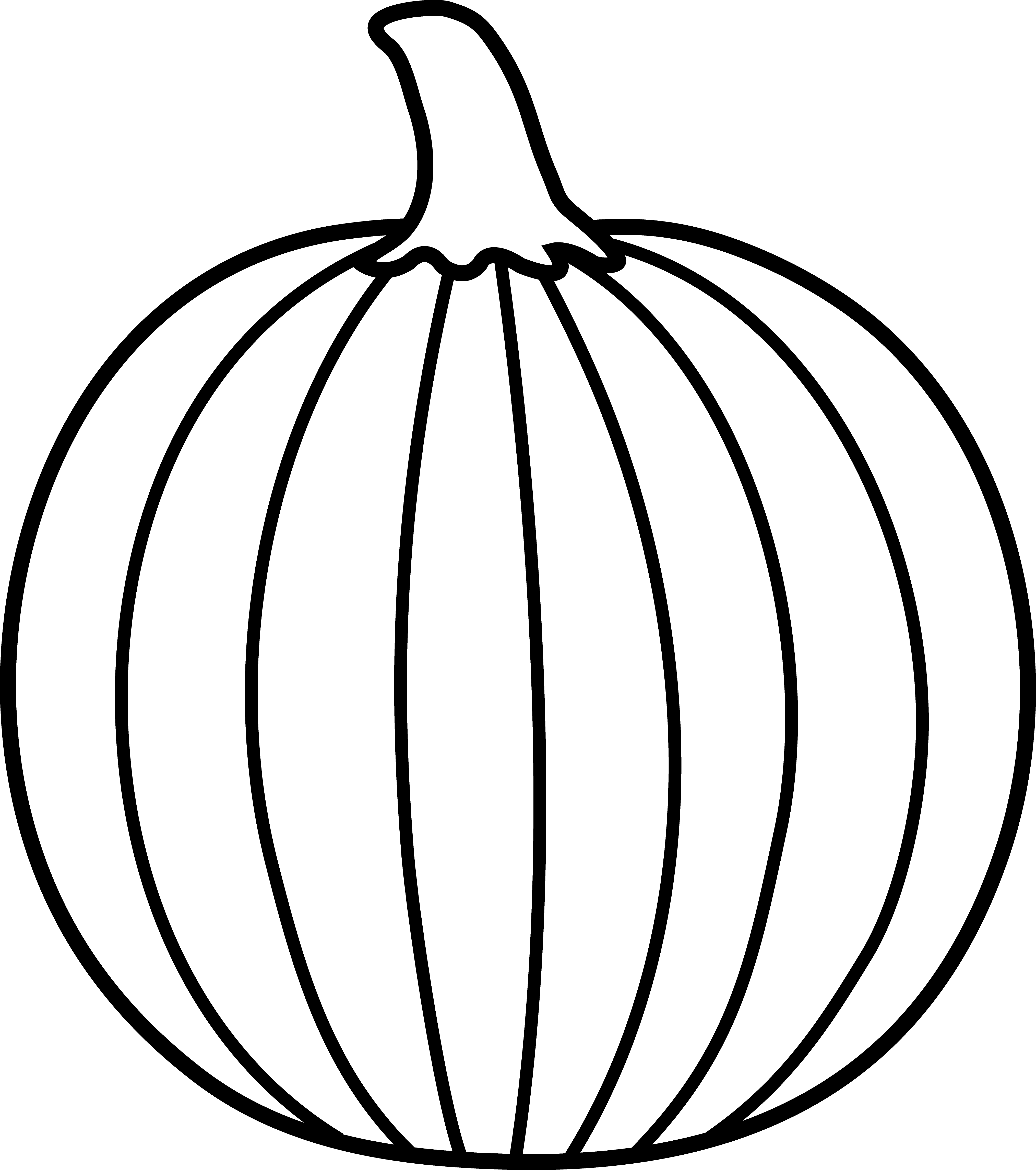 Black and white pumpkins clipart clip library library Pumpkin Outline Printable | Clipart Panda - Free Clipart Images ... clip library library