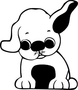 Black and white puppy clipart picture royalty free library Puppy Clip Art Black And White | Clipart Panda - Free Clipart Images picture royalty free library