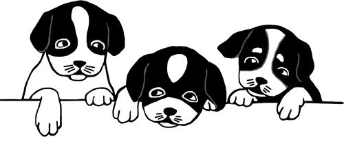 Black and white puppy clipart image black and white Dog and puppy clipart black and white 4 » Clipart Portal image black and white