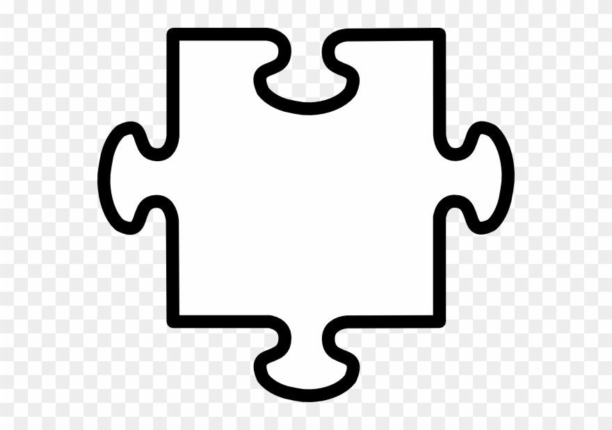 Puzzle pieces clipart black and white jpg transparent stock Jigsaw Piece Black And White Clipart (#185445) - PinClipart jpg transparent stock