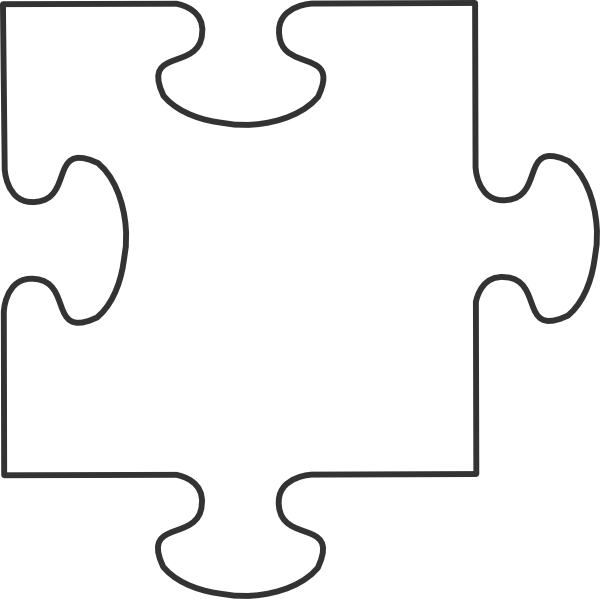 Black and white puzzle piece clipart png transparent library Large Blank Puzzle Pieces | White puzzle piece clip art | Teachery ... png transparent library