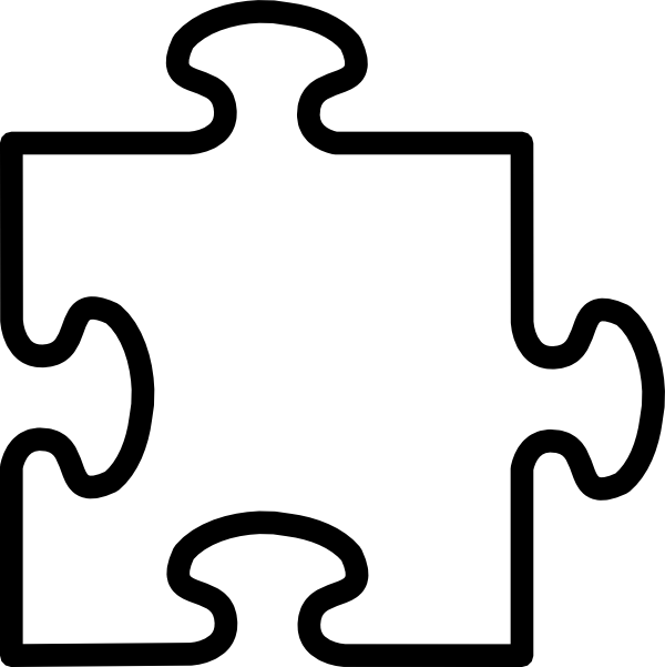 Black and white puzzle piece clipart image transparent library Book Black And White clipart - Puzzle, transparent clip art image transparent library