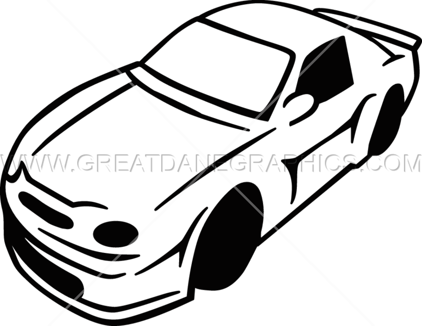 Black and white race car clipart royalty free library Two Tone Race Car | Production Ready Artwork for T-Shirt Printing royalty free library