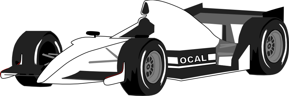 Black and white race car clipart picture transparent library clipartist.net » Clip Art » formula one car black white line art SVG picture transparent library