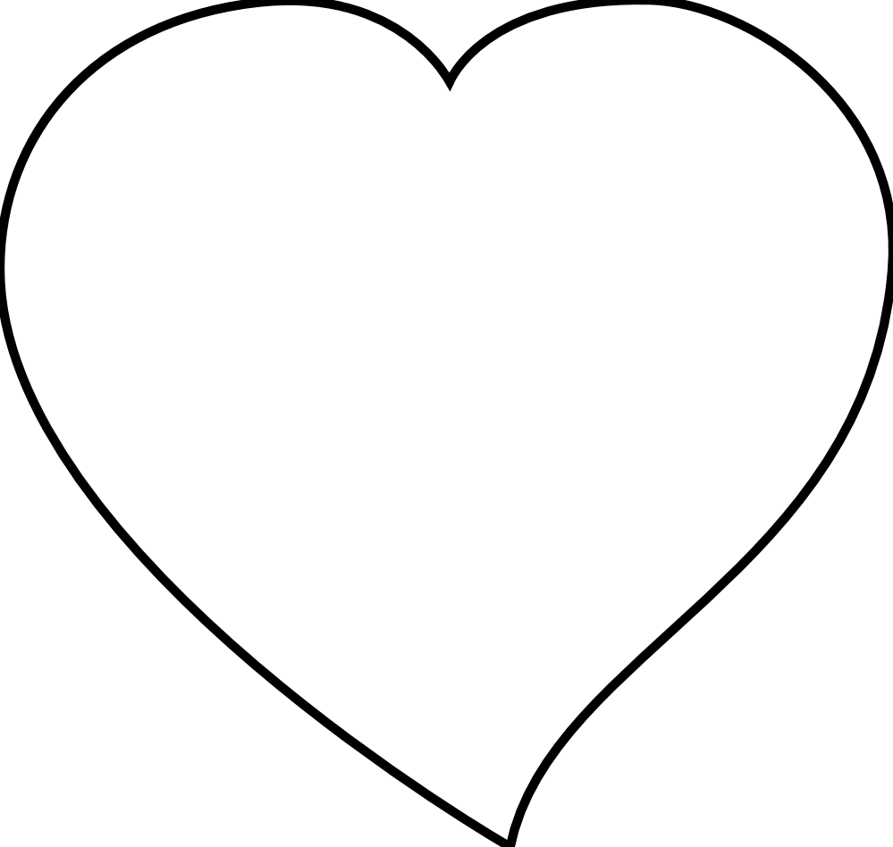 Valentine Heart Black And White Clipart - Clipart Kid svg freeuse