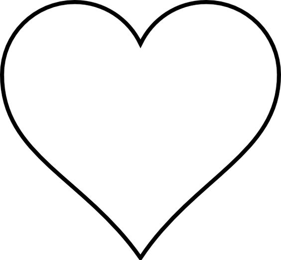 Heart Outline Clip Art | Small red heart black and white only clip ... image black and white