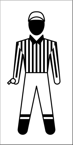 Black and white referee clipart png transparent stock Clip art: People: Sports Officials: Football Referee Male B&W I ... png transparent stock