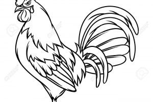 Black and white rooster clipart svg transparent Black and white rooster clipart 2 » Clipart Portal svg transparent