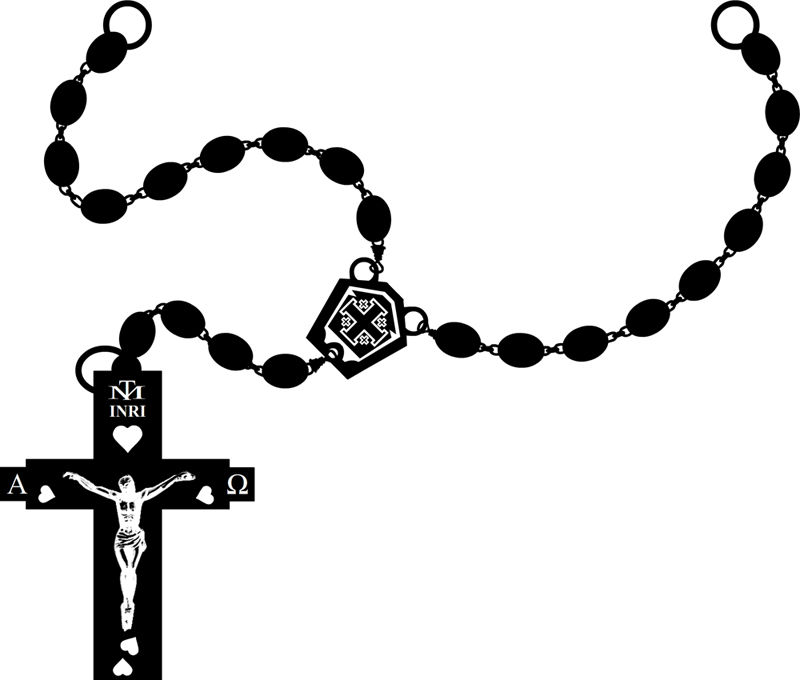 Cross & rosary clipart black and white png download Rosary clipart black and white 4 » Clipart Station png download