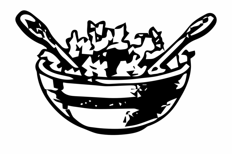 Black and white salad clipart picture royalty free library Salad Bowl - Salad Bowl Clipart Black And White Free PNG Images ... picture royalty free library
