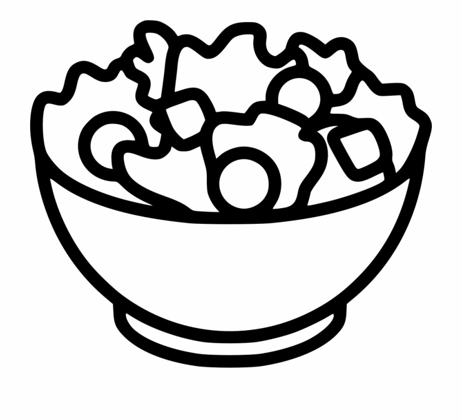 Chicken taco salad clipart black and white picture library stock Png File - Black And White Clipart Salad Free PNG Images & Clipart ... picture library stock