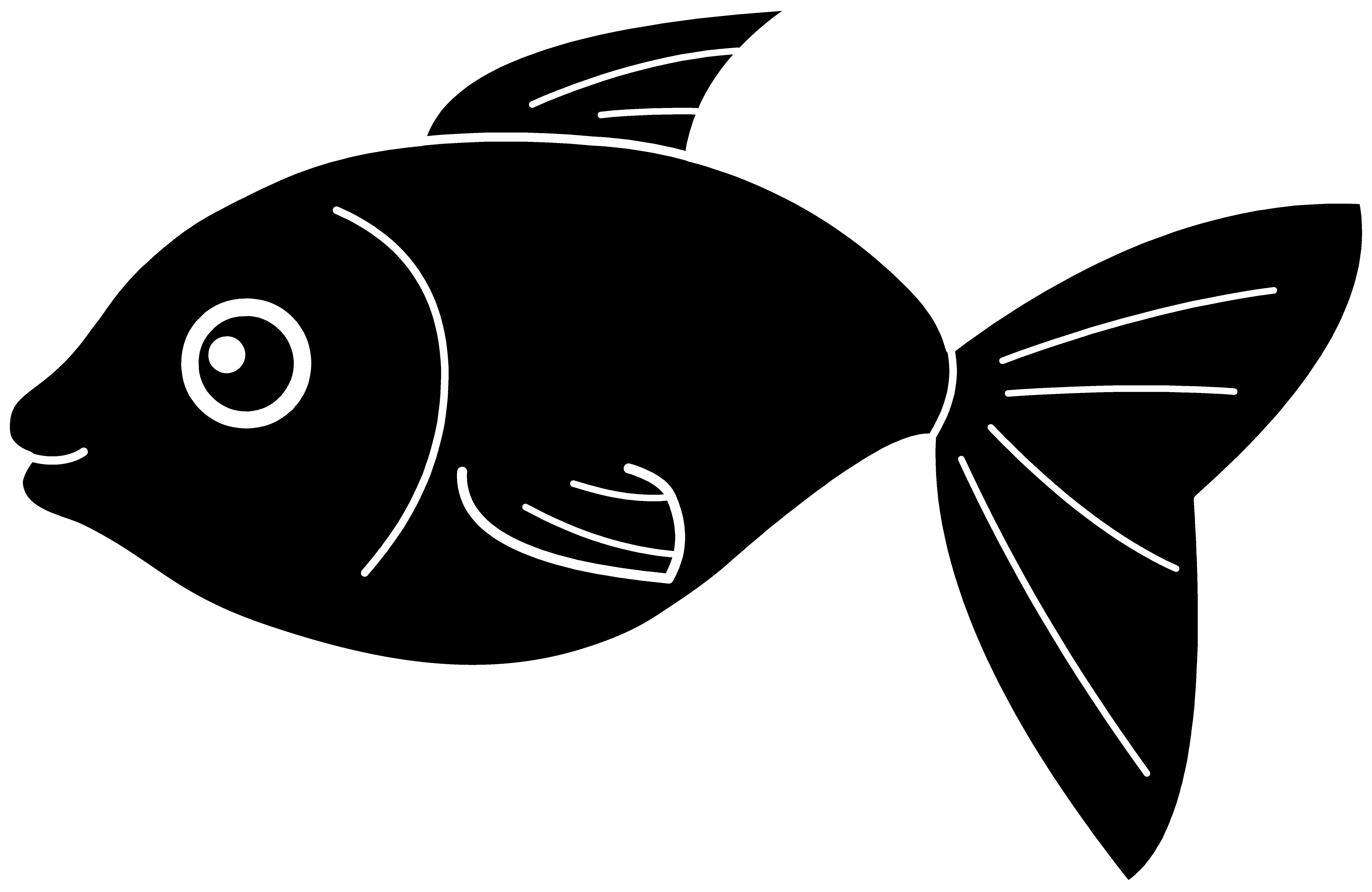 Cartoon fish clipart black and white transparent background clip free Fish Clip Art Black and White | Black Fish Silhouette | pattern ... clip free