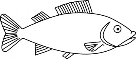 Black and white salt water fish clipart vector royalty free Fish Black And White | Free download best Fish Black And White on ... vector royalty free