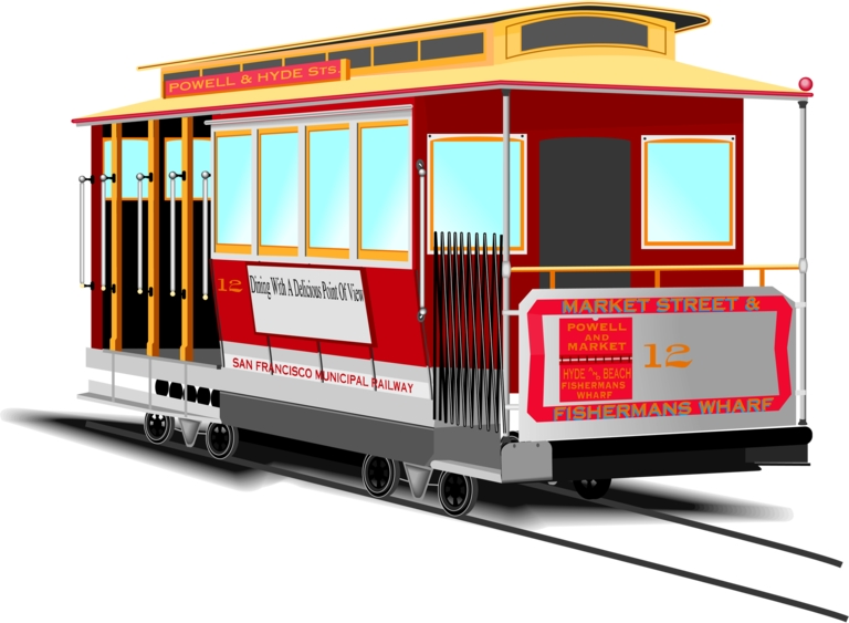 Black and white san francisco street car clipart graphic royalty free Streetcar Clipart | Free download best Streetcar Clipart on ... graphic royalty free
