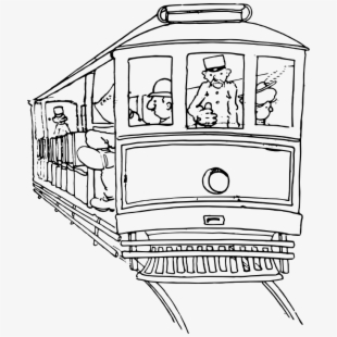 Black and white san francisco street car clipart image stock Streetcar - San Francisco Cable Car Clipart Coloring #645071 - Free ... image stock