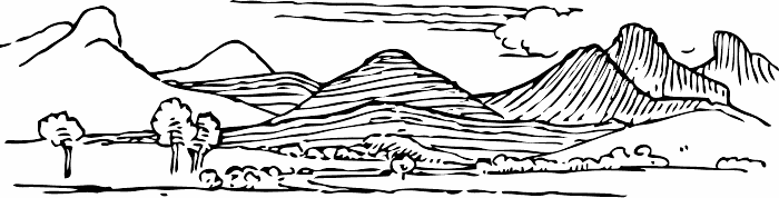 Black and white scenery clipart vector free stock Mountain black and white black and white clip art mountain scenery ... vector free stock