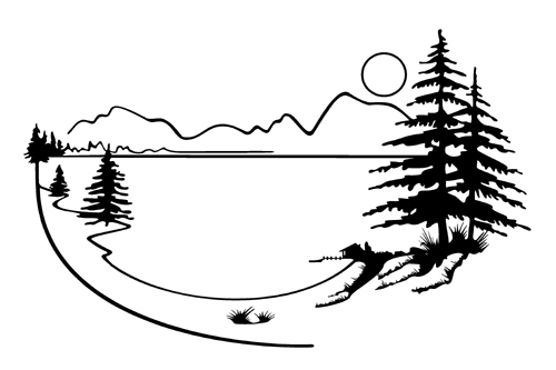Black and white scenery clipart image free download Black And White Clip Art Mountain Scenery – Clipart Download - Free ... image free download