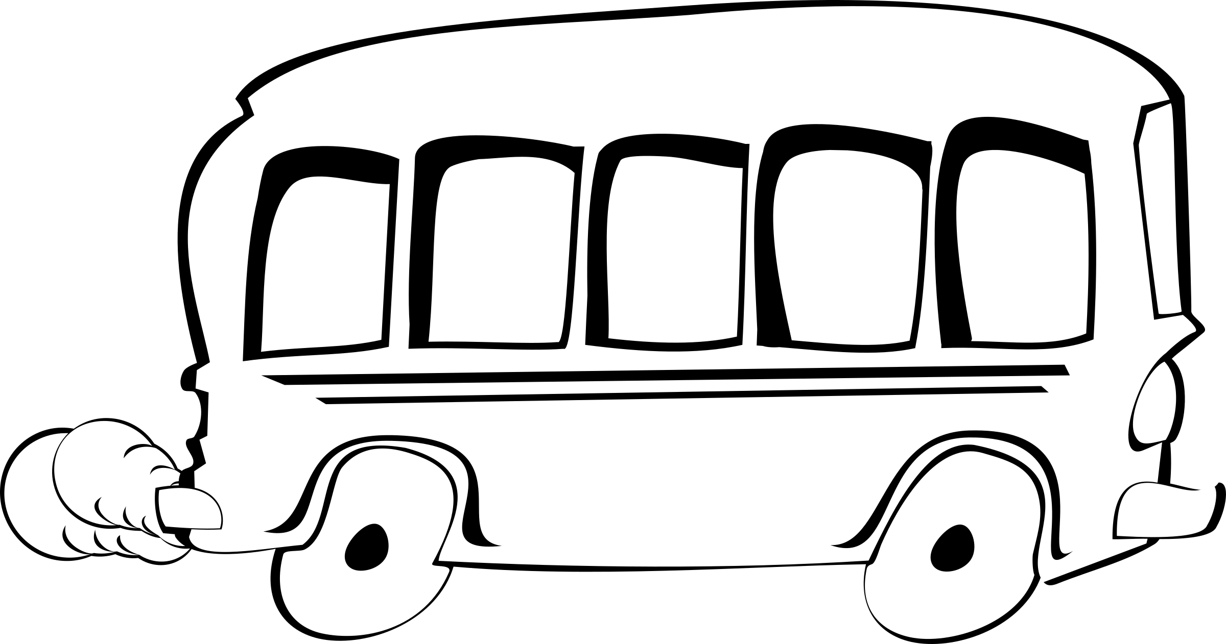 Clipart school bus black and white banner freeuse Clipart - bus remixed banner freeuse