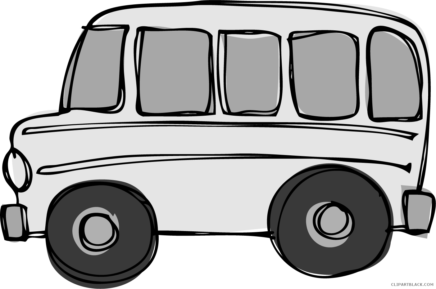 Clipart school bus black and white banner library School Bus Clipart - ClipartBlack.com banner library