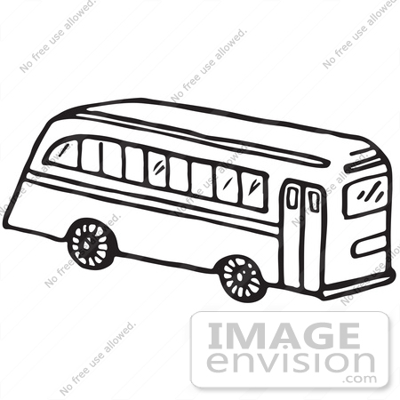 Black and white school bus lights clipart picture library download Clipart Of A School Bus In Black And White Royalty Free - Free Clipart picture library download