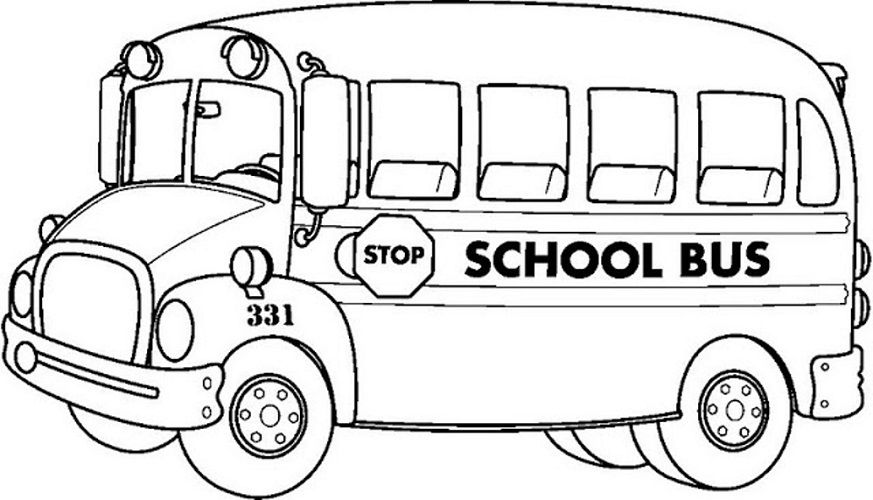 Black and white school bus lights clipart freeuse library Colour Picture Download | Coloring Pages for Kids | School bus ... freeuse library
