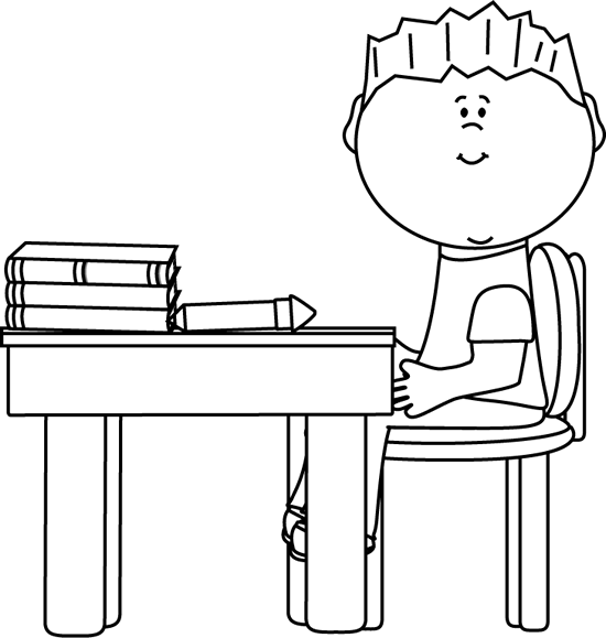 School desk clipart black and white banner royalty free download School Kids Clip Art - School Kids Images - Vector Clip Art banner royalty free download