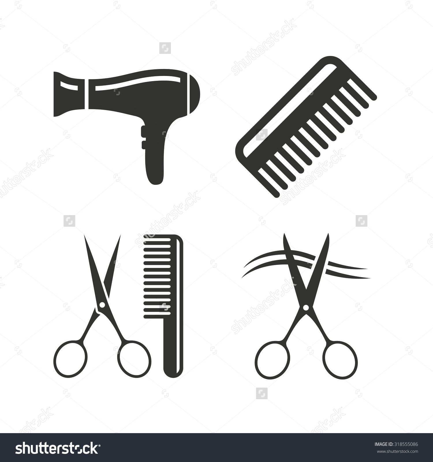 Black and white scissors and blowdryer clipart clip art transparent library Image result for BLOWDRYER CLIPART | SALON IDEAS | Hairdresser logo ... clip art transparent library