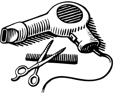 Black and white scissors and blowdryer clipart vector library Blow Dryer Drawing at PaintingValley.com | Explore collection of ... vector library