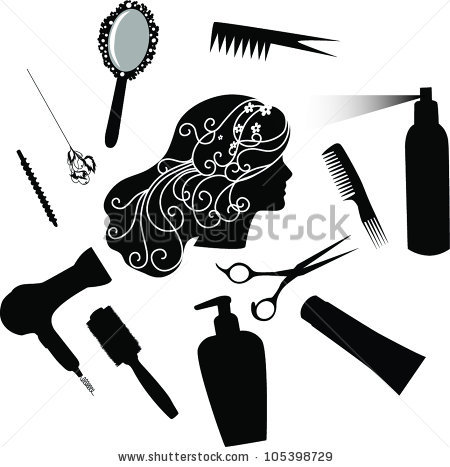 Black and white scissors and blowdryer clipart png transparent stock Blow Dryer And Scissors PNG Transparent Blow Dryer And Scissors.PNG ... png transparent stock