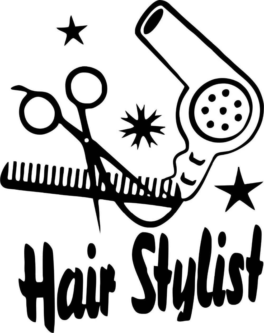 Black and white scissors and blowdryer clipart picture free Blow dryer and scissors clipart 7 » Clipart Portal picture free