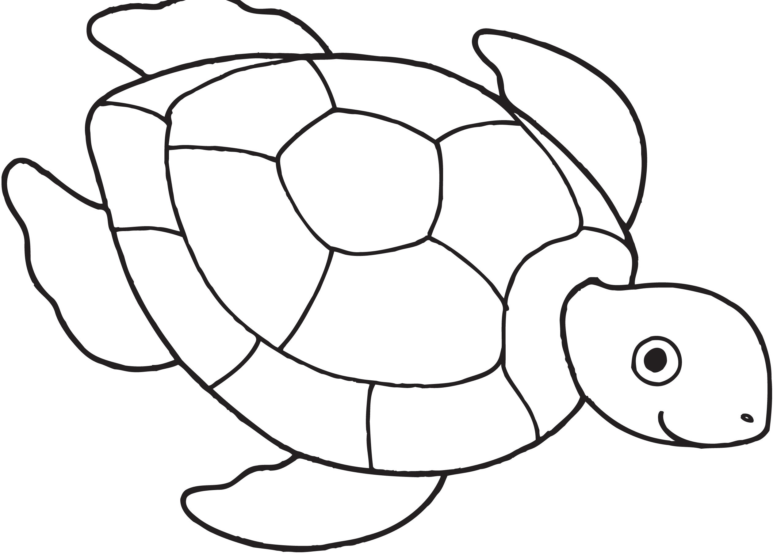 Sea turtle with a black and white clipart clip freeuse library Sea turtle clipart black and white 6 » Clipart Station clip freeuse library