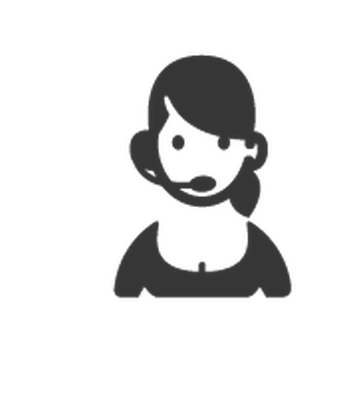 Black and white service clipart picture free download Professions - Black & White - Customer-Service Representative ... picture free download