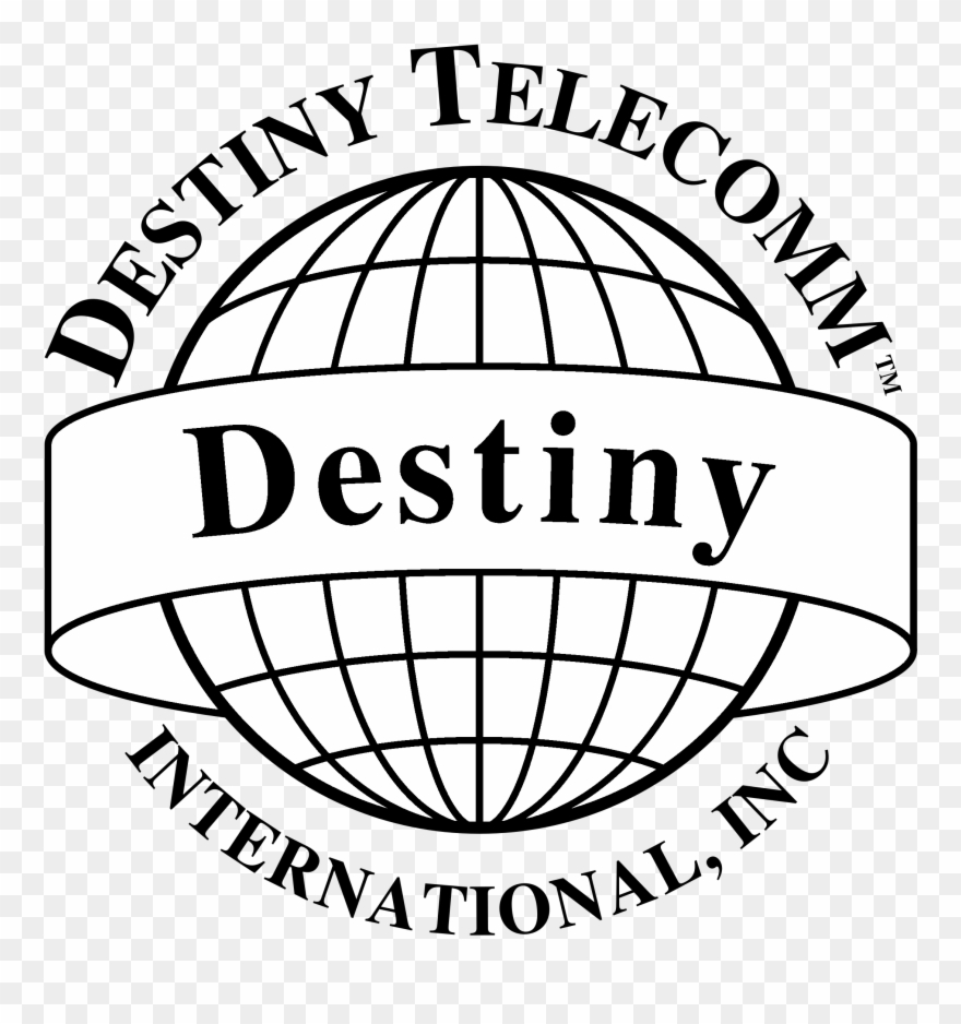 Black and white service clipart png transparent download Destiny Telecomm Logo Black And White - Bureau Of Assessment ... png transparent download