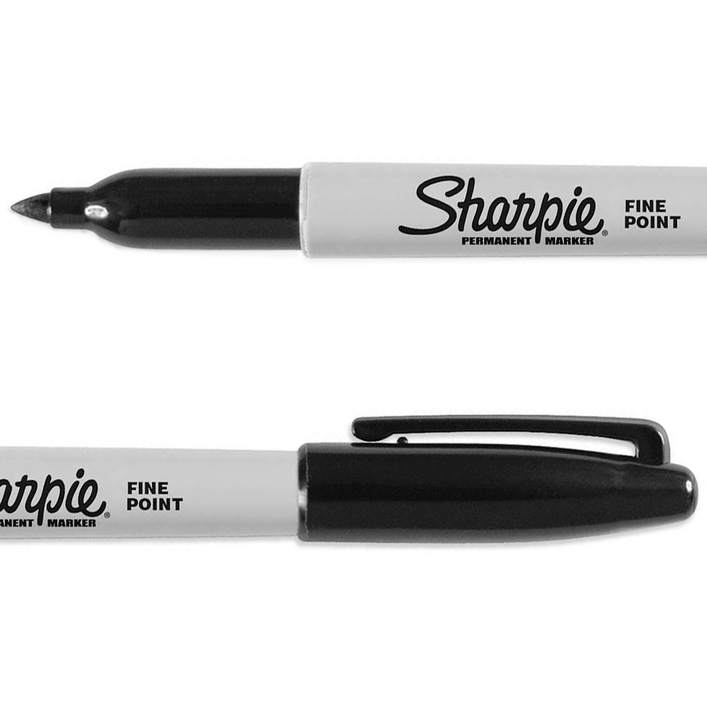 Black and white sharpie marker clipart sets clipart free stock Sharpie : Permanent Marker Pen : Black : Fine Point clipart free stock