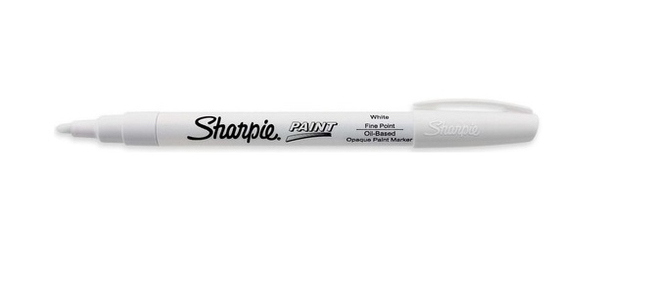 Black and white sharpie marker clipart sets clipart transparent stock SHARPIE S35543 OIL BASED PAINT MARKER FINE POINT WHITE - BOX OF 12 clipart transparent stock