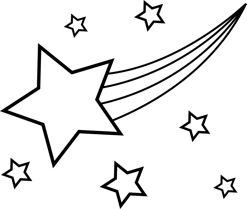 Star background clipart black and white png Falling Star Drawing at GetDrawings.com | Free for personal use ... png
