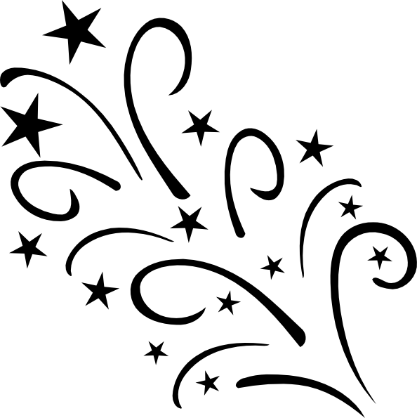 Shooting star black and white clipart vector black and white download Starplodebw Clip Art at Clker.com - vector clip art online, royalty ... vector black and white download